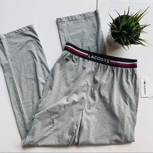 LACOSTE Sleepwear Gray Pajama Pants Men's SMALL